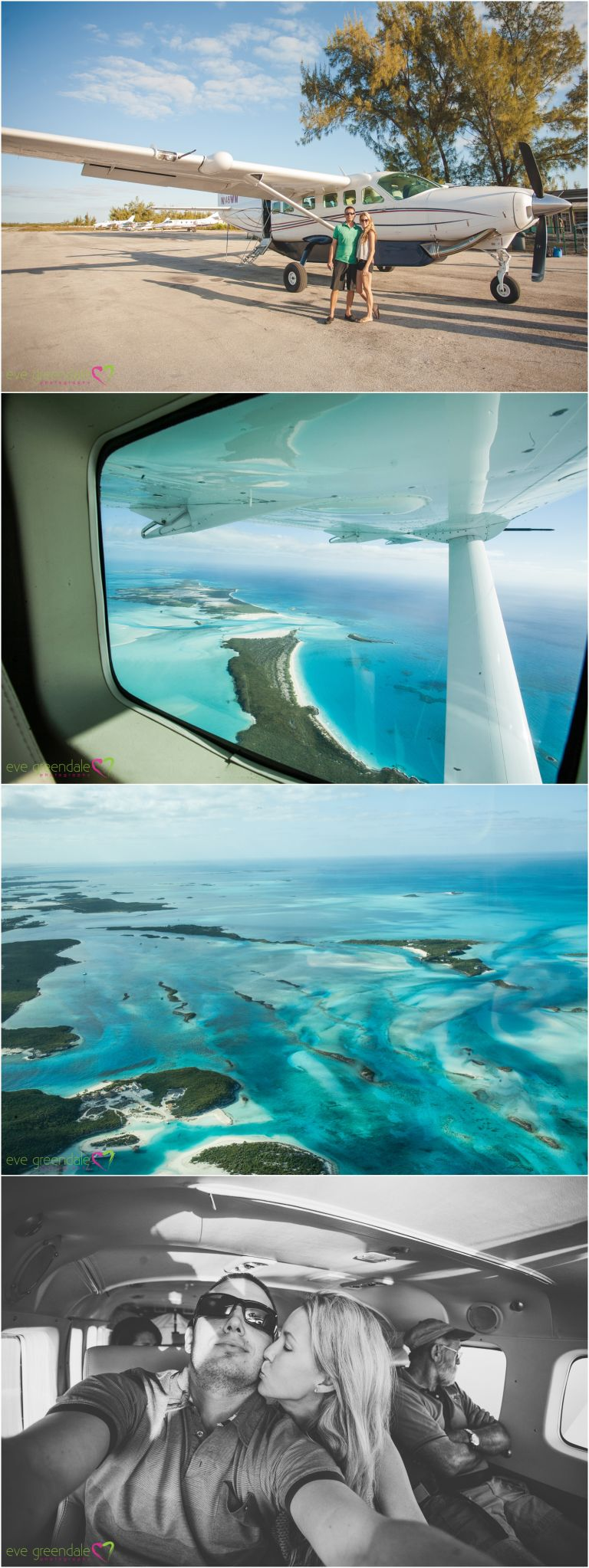 Flying over the exumas